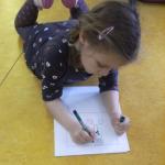 Online Teken-schrijfopdracht voor groep 1-3 over handen wassen